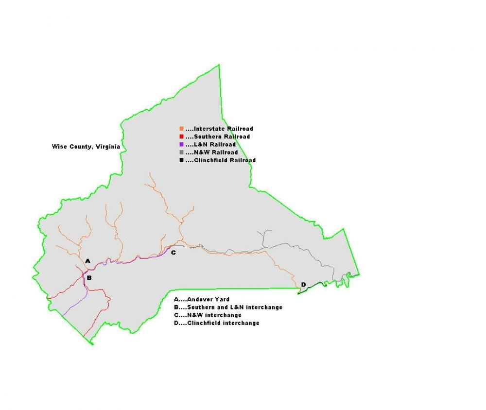Interstate Railroad Map